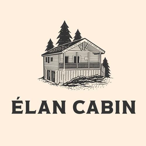 élan cabin rustic logo design