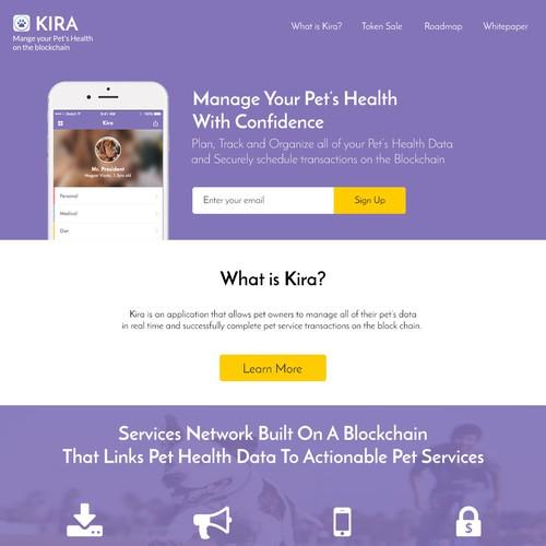 Kira Pet's Health Application
