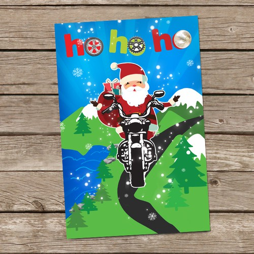 Christmas Card Contest for Motorcycle Rally