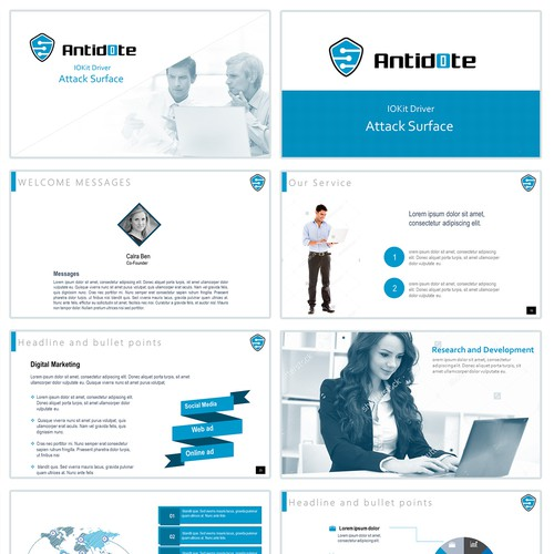 Powerpoint template for IT company