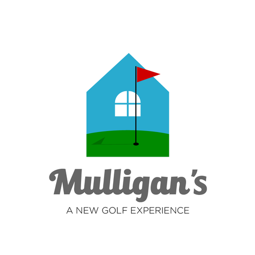 modern logo for indoor golf
