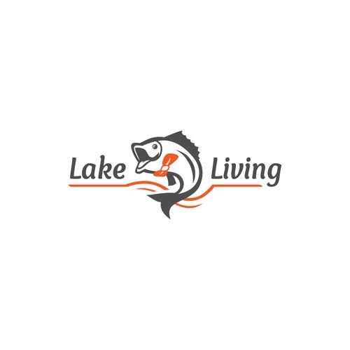 Winning logo concept for Lake Living