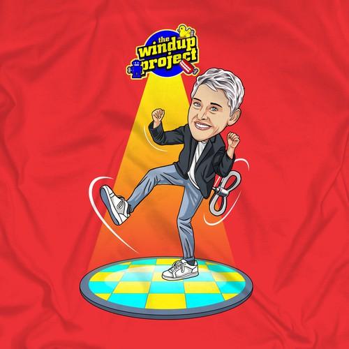 Design Fun, Creative T-Shirt Design for Ellen TV Show