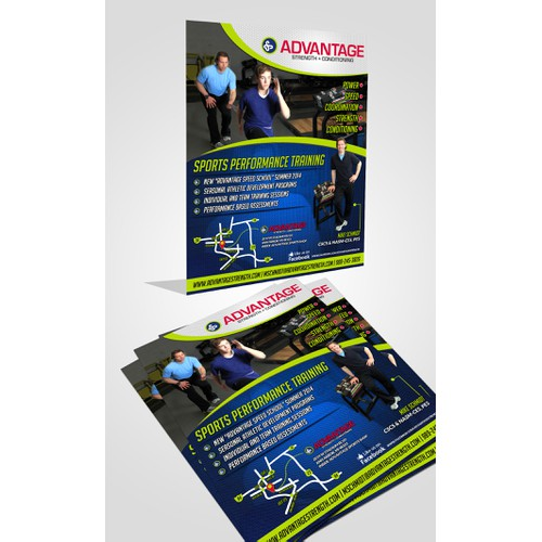 Be a creative and create a simple and savvy print ad for Advantage Strength.
