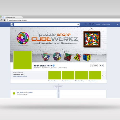 Puzzle store facebook cover