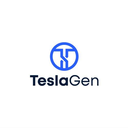 TeslaGen Logo Design