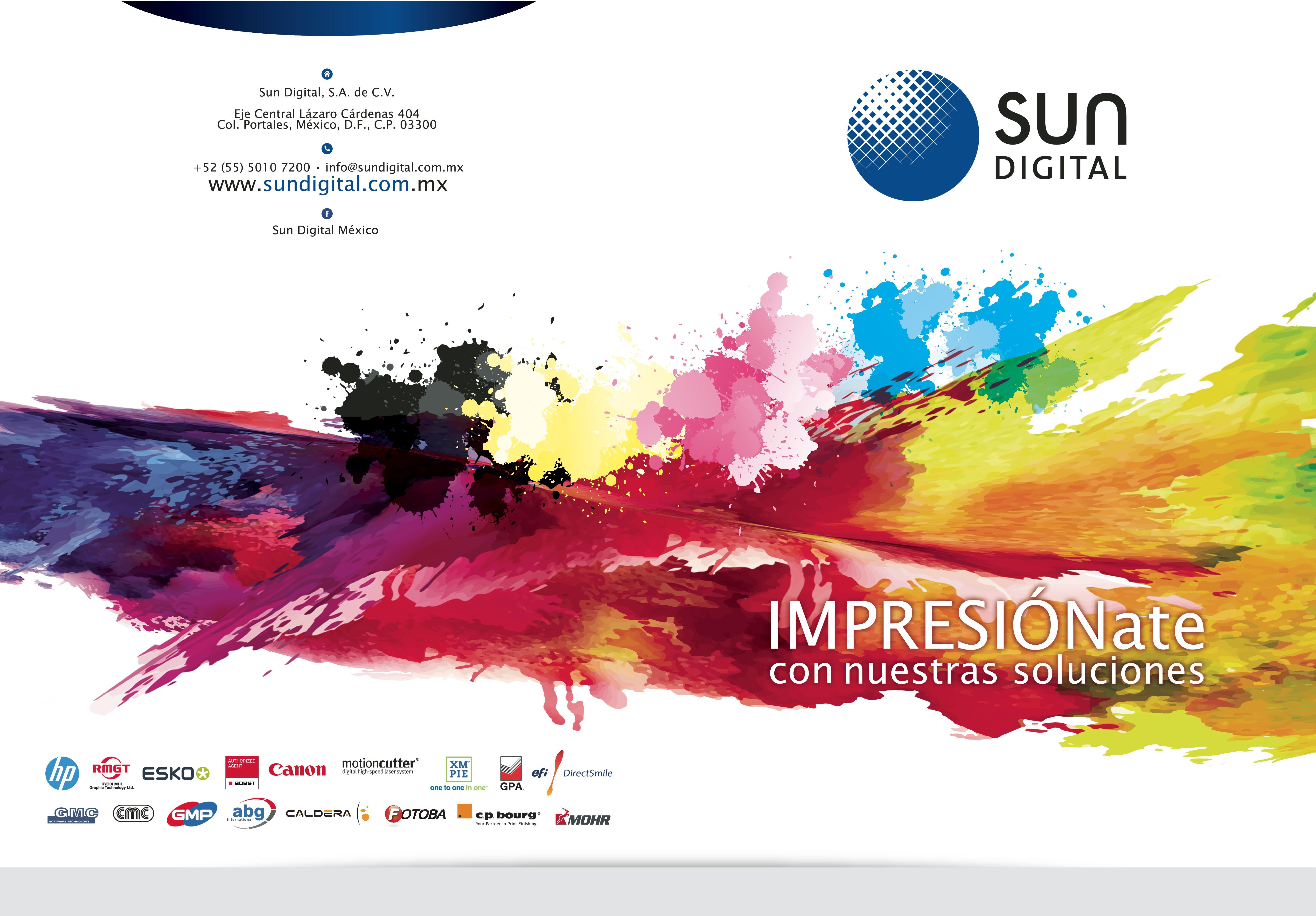 Design a creative corporate folder - Sun Digital
