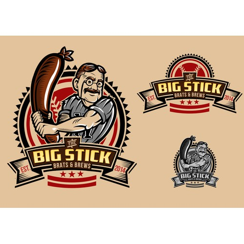RESTAURANT BAR LOGO DC - BASEBALL WOODSY WESTERN THEME