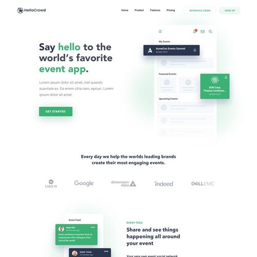 HelloCrowd webdesign