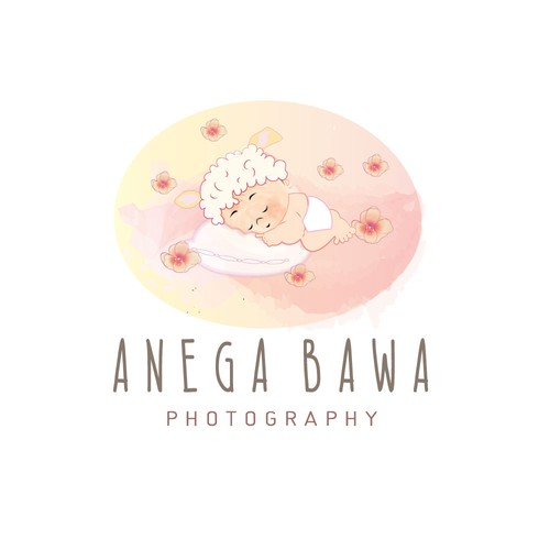 Floral Logo for Newborn, Maternity & Baby Photographer