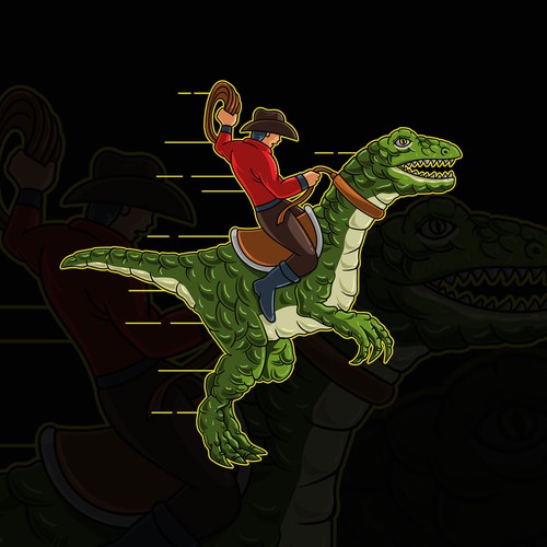 The Cowboy and Dinosaurs