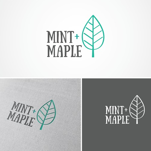 Logo for a boutique 'Mint+Maple'