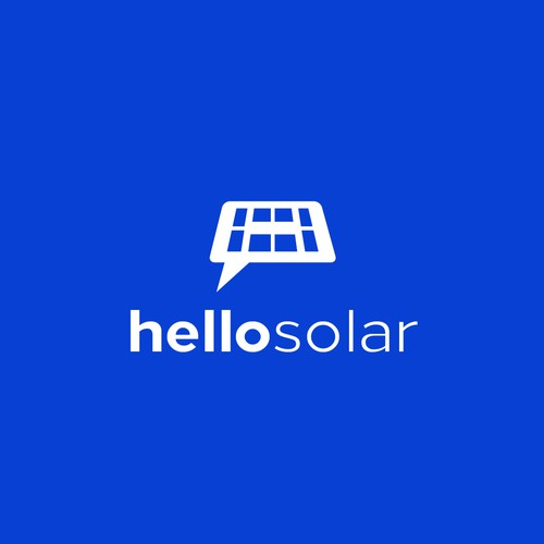 simple and clean logo for Hello Solar