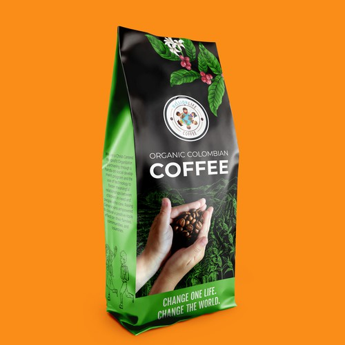 Coffee Packaging Design for Non-Profit