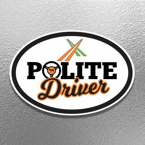 Stiker Polite Driver