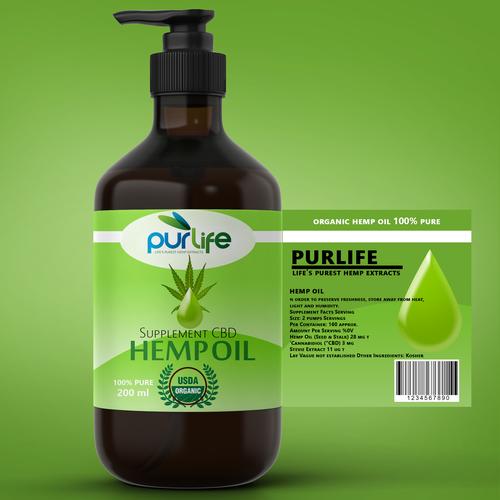 label design for hemp oil