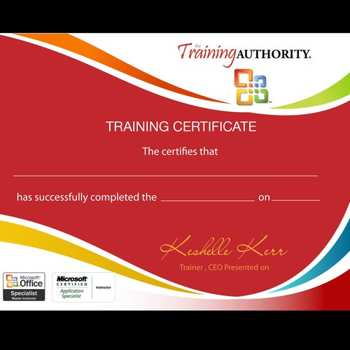 Create the next design for The Training Authority