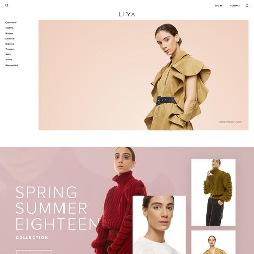 Website design for edgy fashion designer