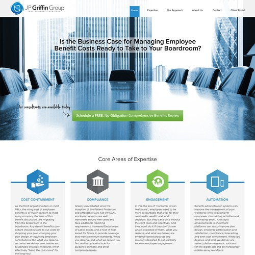 Landing Page Design for JP Griffin Group