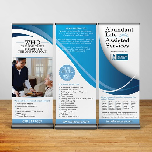 Trade show popup banner