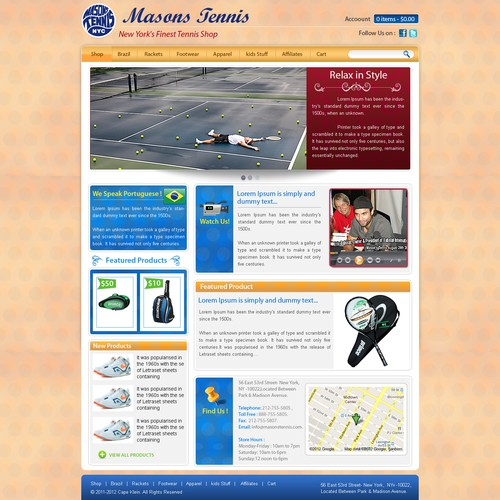 Help MASONS TENNIS with a new website design