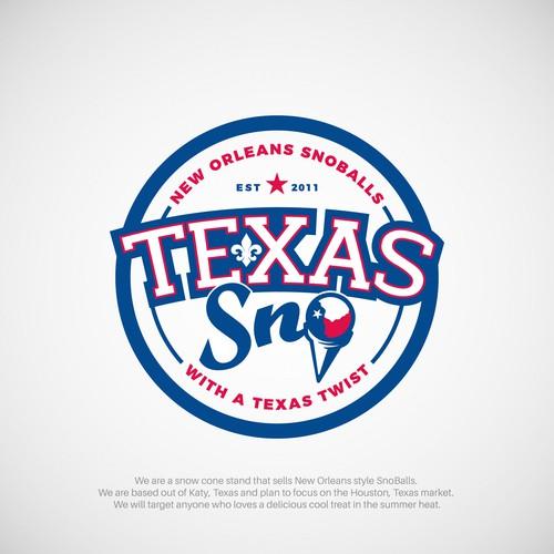 Logo for Texas Sno, New Orleans Snoballs.
