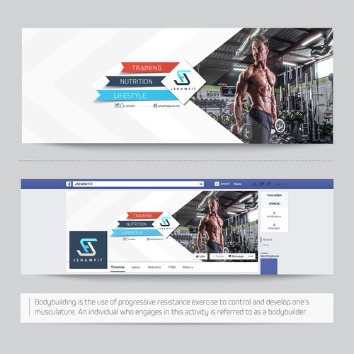 Body Building Facebook Cover Design