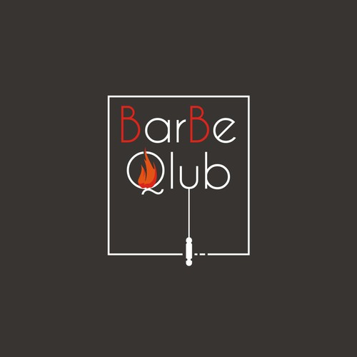 clean and simple logo for barbeclub