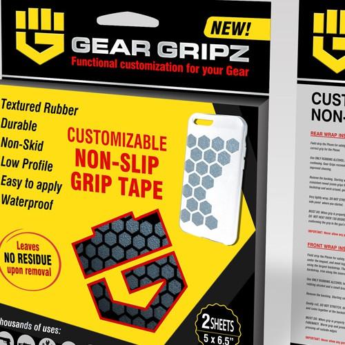 Gear Gripz Retail packaging design