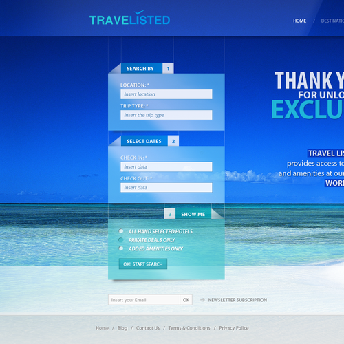 New website design wanted for TraveListed