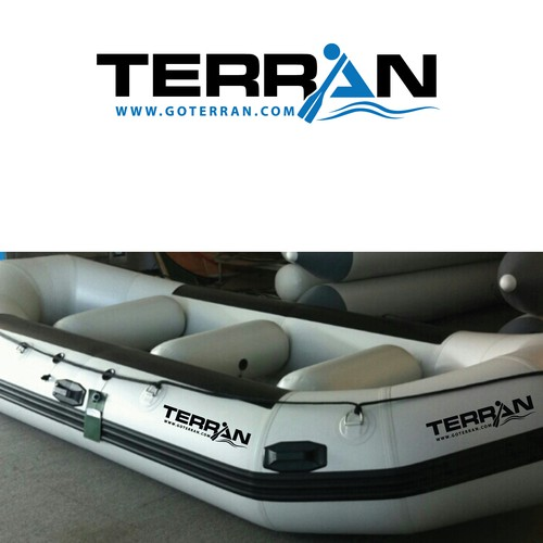 "design ""terran"" logo (meaning:of the earth) for inflatable rafts &kayaks, and dry bags"