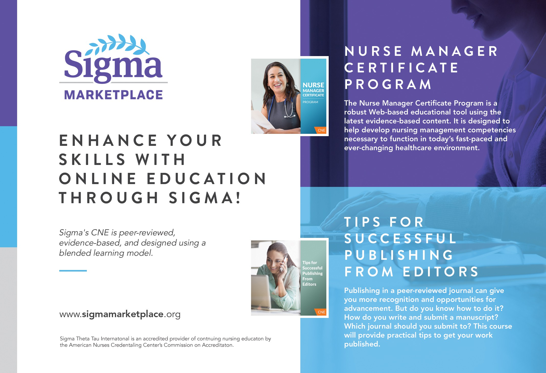 Create an appealing ad for online nursing education! (New brand!)