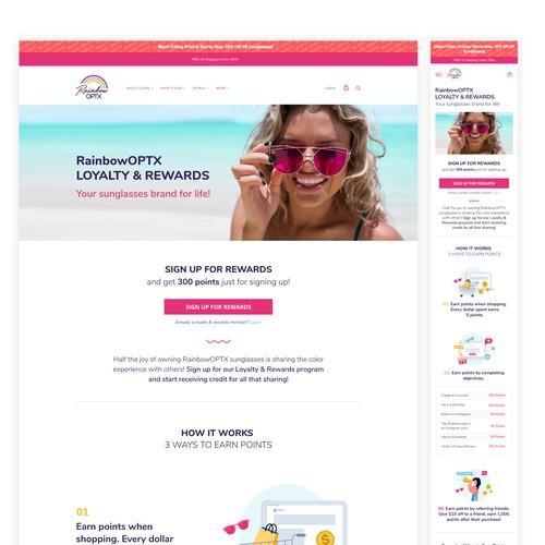 Landing Page - Rainbow OPTX