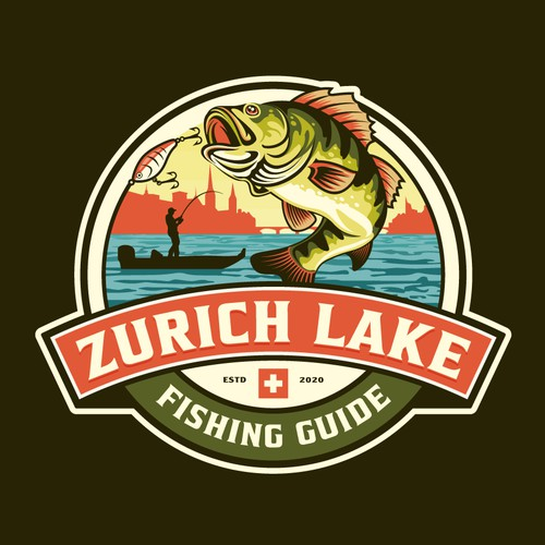 Logo design for School Fishing Guiding