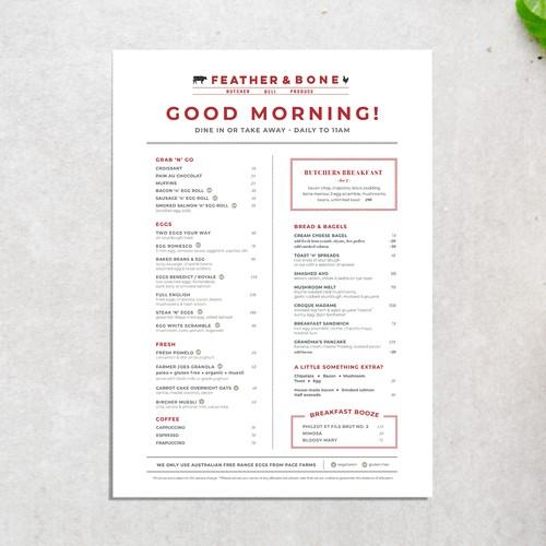 Menu Design for Butcher, Deli, and Produce Shop