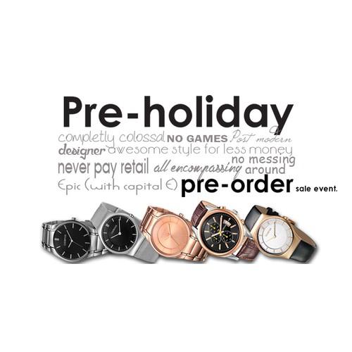 Pre-holiday pre-order sales event