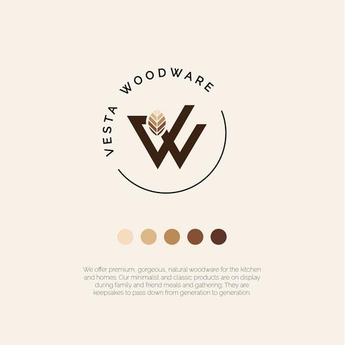 Vesta Woodware logo design