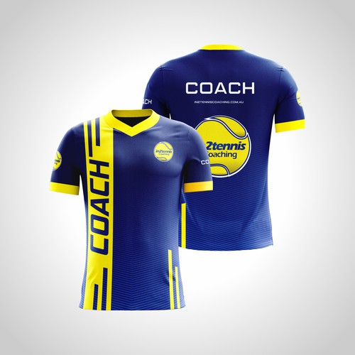 Tennis coach t-shirt design