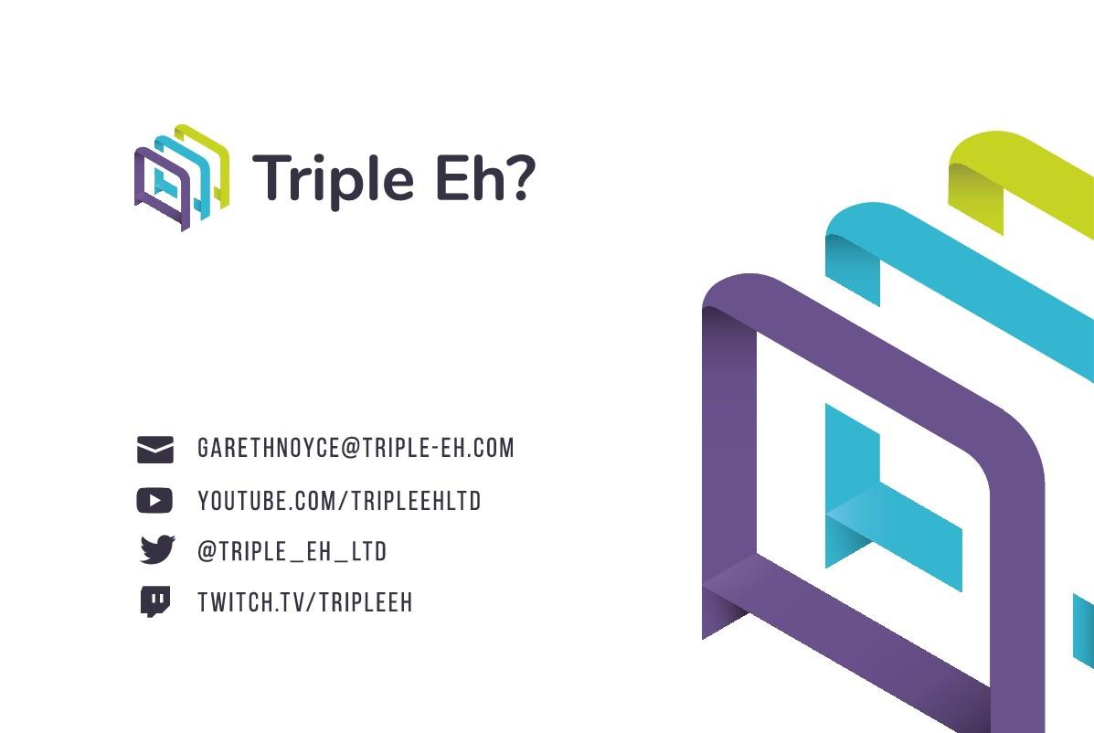 Tripple Eh? business card design
