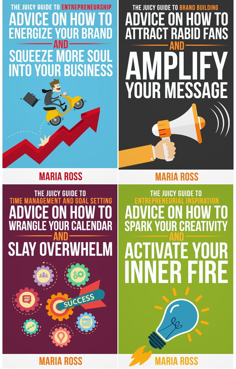 The Juicy Guides: Create series of eBook covers for mini guides for entrepreneurs