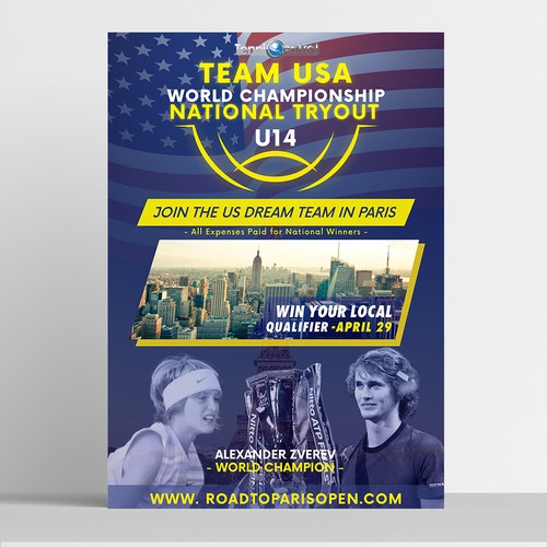 Tennis flyer design