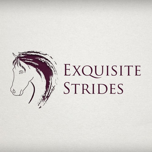 My logo entry for Exquisite Strides that didn't make it to the finals but I kinda like it.