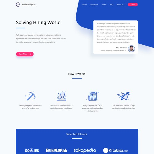 Landing page For IT Recruitment