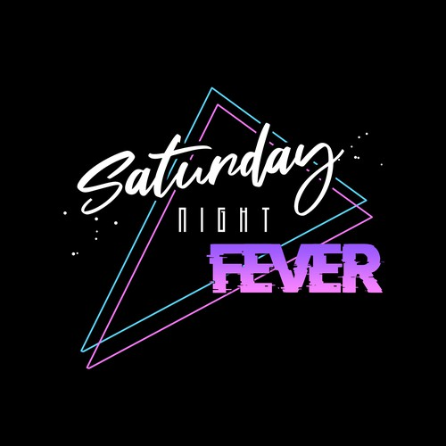 80's style party logo