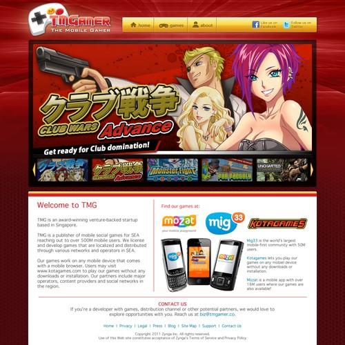 website design for TMGAMER