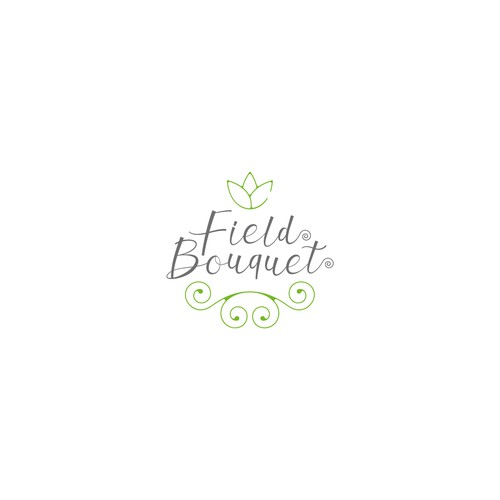 Natural logo concept for Field Bouquet