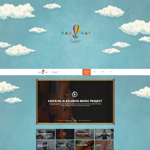 Simple & Sophisticated site for high-end TV/Film production company