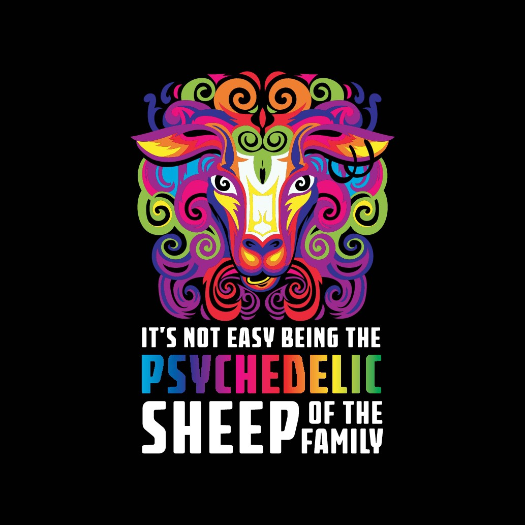 """""""Design a Psychedelic sheep illustration for T-shirt"""""""
