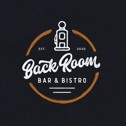 Hand Lettering Logo or BACK ROOM Bar and Grill