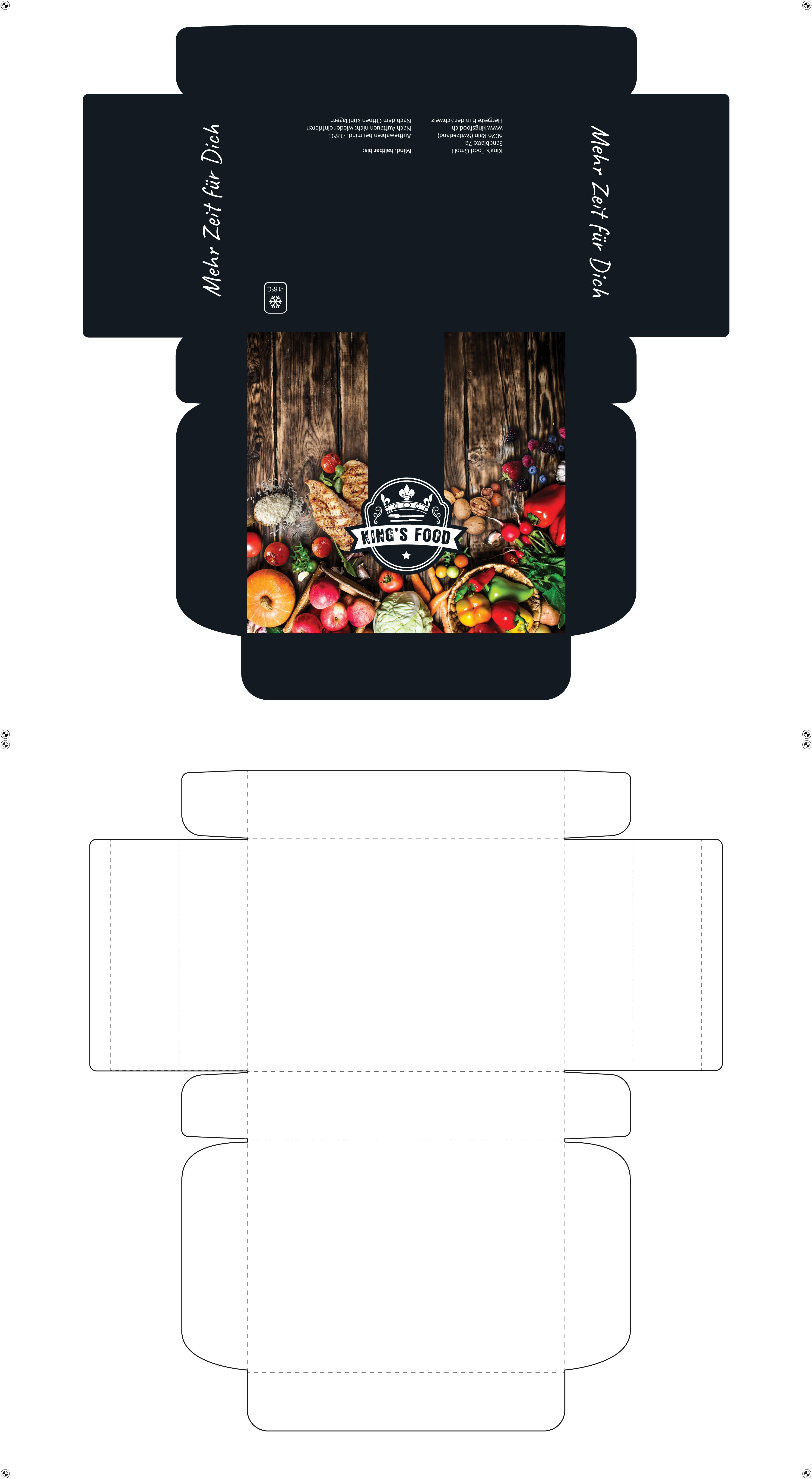 King's Food braucht ein cooles Verpackungsdesign